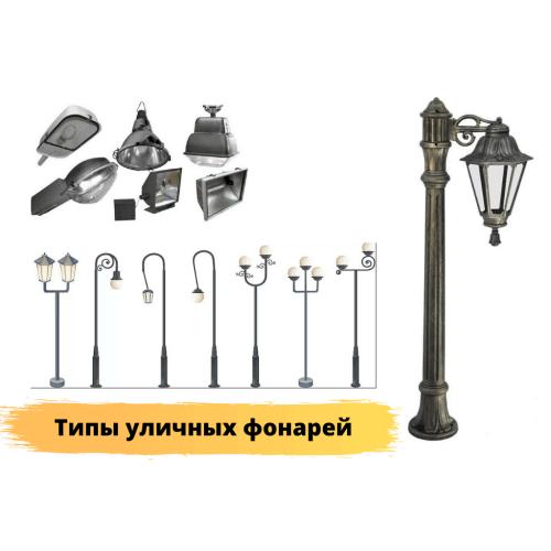 Типы ламп для уличных фонарей