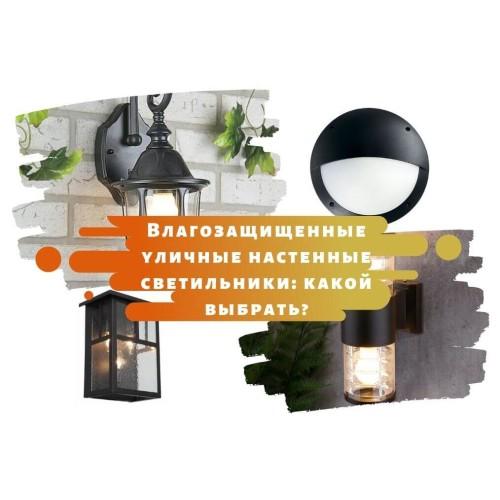 Влагозащищенные уличные настенные светильники: какой выбрать?