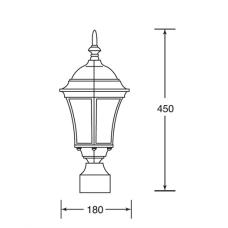 Венчающий светильник ASTORIA 1 S 91303S Bl