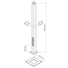 Опора стальная квадратная ОСК 250